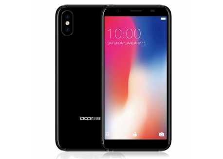 DooGee X55 černý HD 1/16GB 2800mAh Dual SIM + záruka 25 měsíců a servis