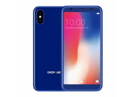 DooGee X55 modrý HD 1/16GB 2800mAh Dual SIM, záruka 25 měsíců a servis