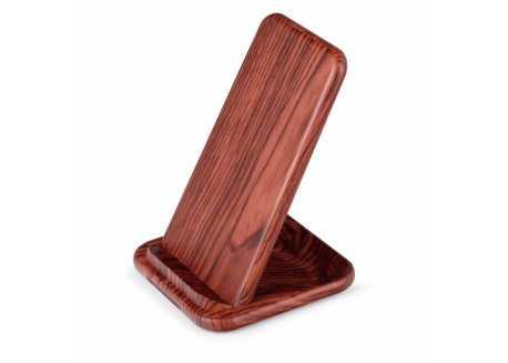 Bezdrátová nabíječka stojan, dekor tmavé dřevo
