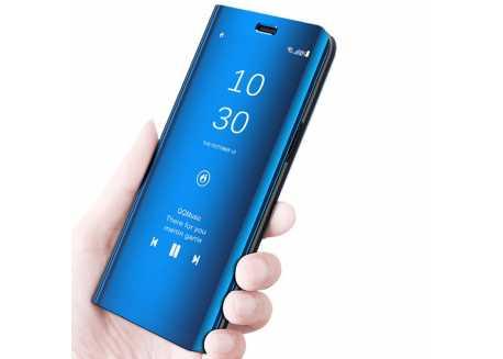 Pouzdro pro Xiaomi Redmi 7 a Xiaomi Redmi Note 7, flip zrcadlová modrá