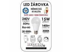 Symfony LED žárovka B60 15W / 100W 240V E27 1400lm 270° 20.000h teplá bílá