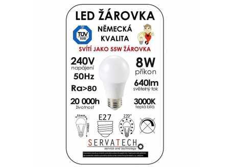 Symfony LED žárovka B55 8W / 55W 240V E27 640lm 270° 20.000h teplá bílá