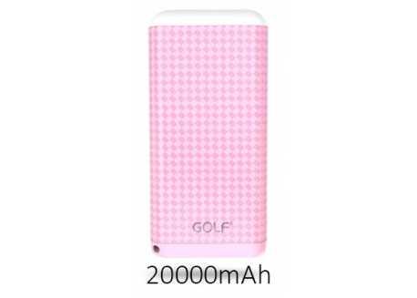 Golf D200GB power bank / powerbanka 20000mAh růžová