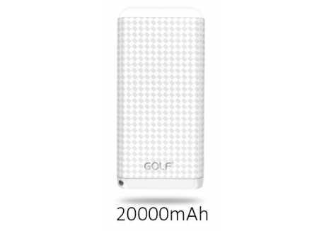 Golf D200GB power bank / powerbanka 20000mAh bílá