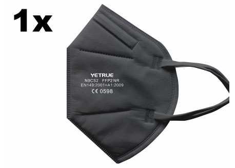 Respirátor FFP2 - N9CS2, CE, 1ks PE balení černý